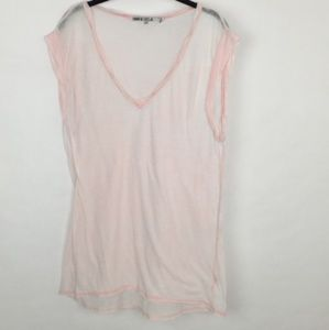 Pam & Gela Pink Super Soft Sheer Burnout T-shirt M